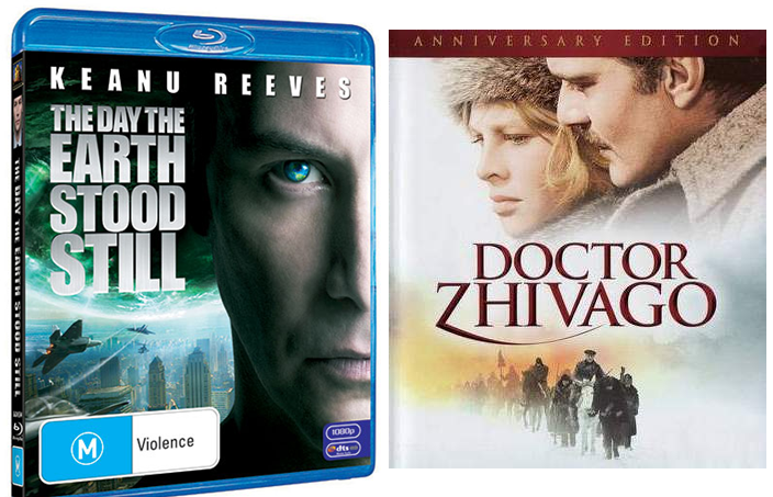 The Day The Earth Stood Still 2008 keanu reeves kapaklı ve Doctor Zhivago blu-ray-adsizjpg