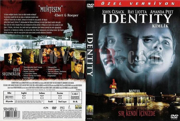 Identity - DVD Cover Türkçe 2003-identity_turkishjpg