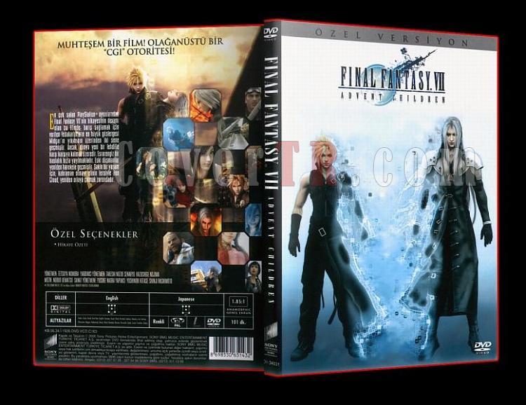 Final Fantasy VII- Advent Children Türkçe Firma Dvd Cover-ajpg