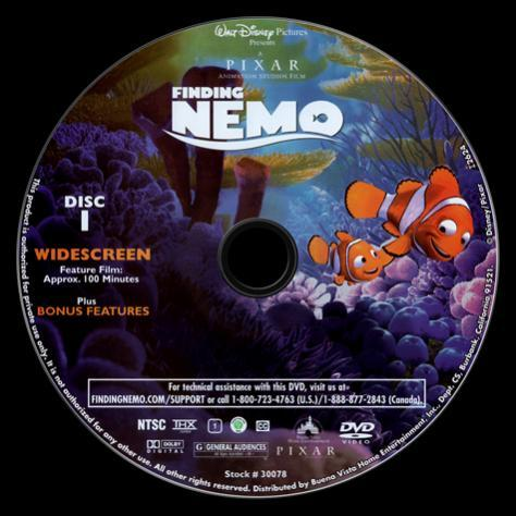 Finding Nemo  (Kayıp Balık Nemo) - Scan Dvd Label - English [2003]-finding_nemo_-_scan_dvd_label_2003jpg