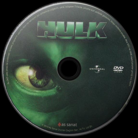 Hulk - DVD Label Orjinal Türkçe (2003)-0jpg