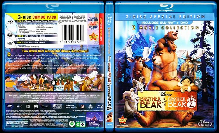 Brother Bear (Double Feature) - Scan Bluray Cover Box Set - English [2003-2006]-brother-bear-double-featurejpg
