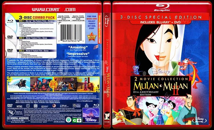 Mulan (Double Feature) - Scan Bluray Cover Box Set - English [1998-2004]-mulan-i-ii-scan-bluray-cover-box-set-english-1998-2004-prejpg