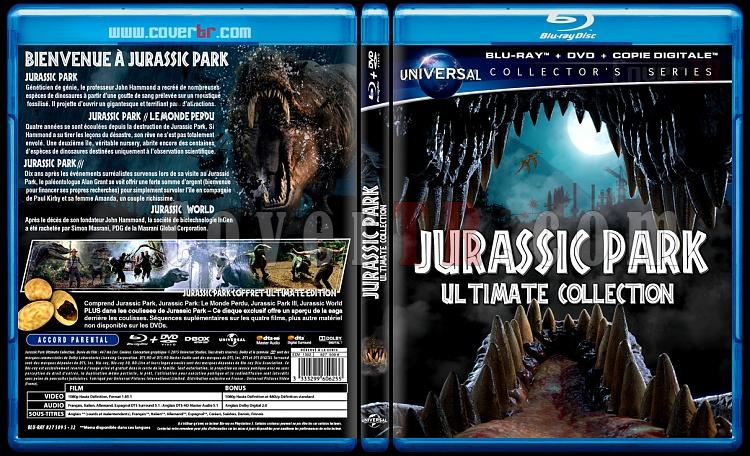 Jurassic Park (Ultimate Collection) - Custom Bluray Cover Box Set - French-jurassicjpg