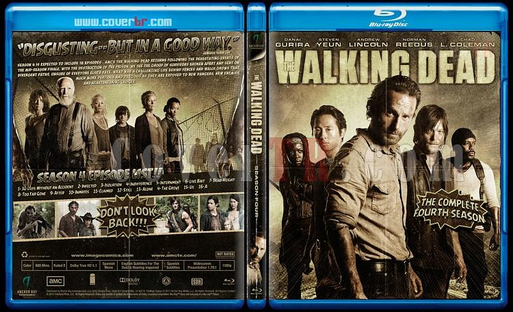 The Walking Dead (Season 4) - Custom Bluray Cover - English-blu-ray-1-disc-flat-3173x1762-11mmjpg