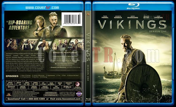 Vikings (Season 1) - Custom Bluray Cover - English [2013]-vikings-br-izlemejpg