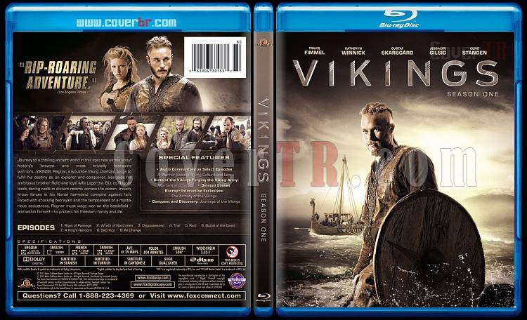 Vikings (Season 1) - Custom Bluray Cover - English [2013]-vikings-izlemejpg