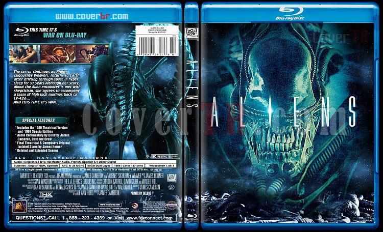 Alien Collection (Yaratık Koleksiyonu) - Custom Bluray Cover Set - English-2jpg