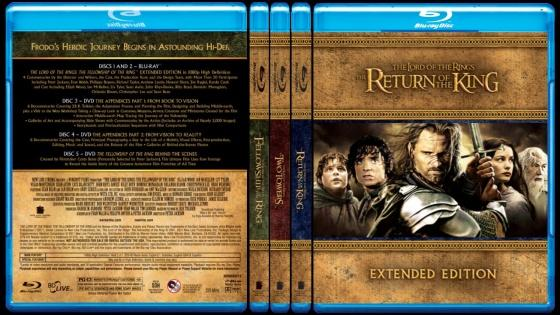 The Lord of the Rings (Yüzüklerin Efendisi) - Custom Bluray Cover Set - English [2001-2002-2003]-165484jpg