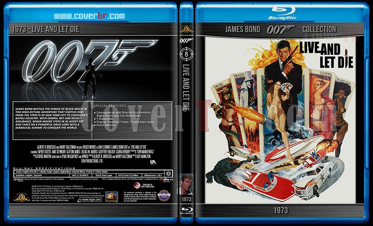 James Bond Collection - Custom Bluray Cover Set - English-1973-bond_007___live_and_let_diejpg