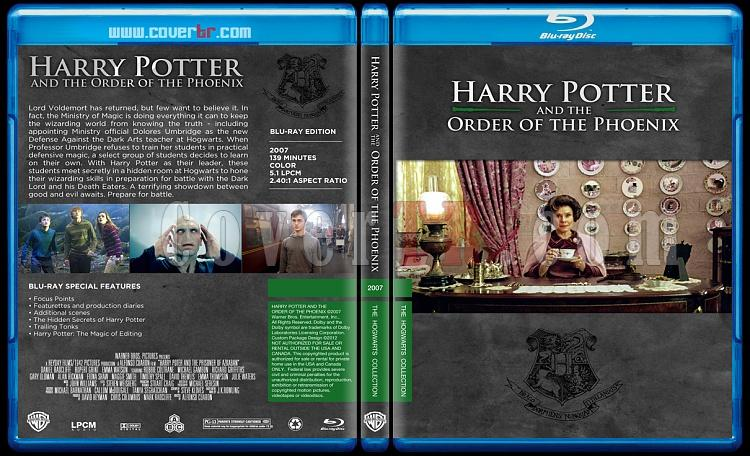 Harry Potter Collection - Custom Bluray Cover Set - English-hp5onizlemejpg