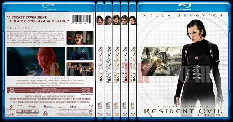 Resident Evil Collection (Ölümcül Deney Koleksiyonu) - Custom Bluray Cover - English-collectionjpg