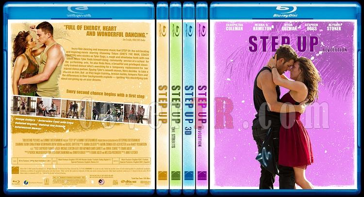 Step Up  Collection - Custom Bluray Cover Set - English-step-up-collectionjpg