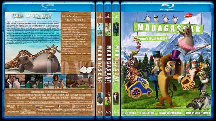 Madagascar Collection (Madagaskar Koleksiyonu) - Custom Bluray Cover Set - English [2005-2008-2012]-hepsijpg