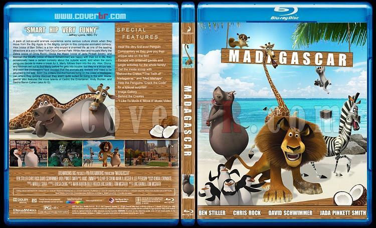 Madagascar Collection (Madagaskar Koleksiyonu) - Custom Bluray Cover Set - English [2005-2008-2012]-madagascar-2005jpg