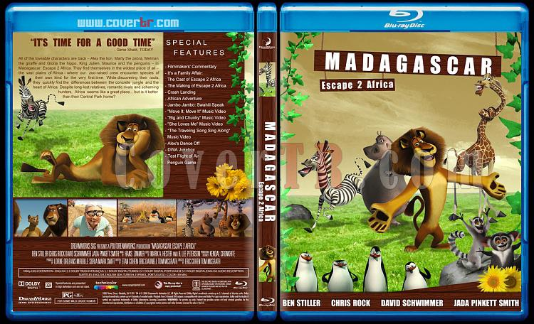 Madagascar Collection (Madagaskar Koleksiyonu) - Custom Bluray Cover Set - English [2005-2008-2012]-madagascar-escape-2-africa-2008jpg