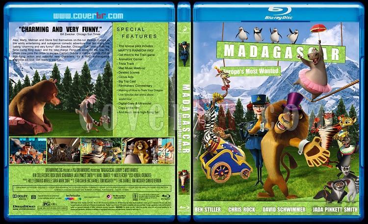 Madagascar Collection (Madagaskar Koleksiyonu) - Custom Bluray Cover Set - English [2005-2008-2012]-madagascar-europes-most-wantedjpg