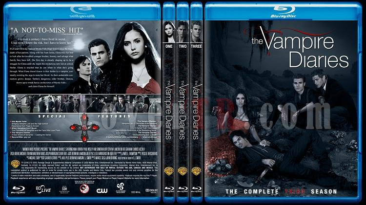 The Vampire Diaries (Seasons 1-3) - Custom Bluray Cover Set - English [2009-?]-alljpg