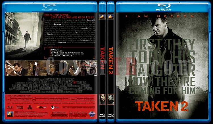 Taken Duology - Custom Bluray Cover Set - English [2008-2011]-br-spinejpg