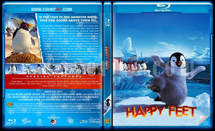 Happy Feet (Neşeli Ayaklar) - Custom Bluray Cover Set - English [2006-2011]-happy-feetjpg