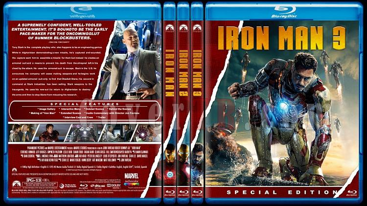 Iron Man Collection - Custom Bluray Cover Set - English [2008-2010-2013]-alljpg