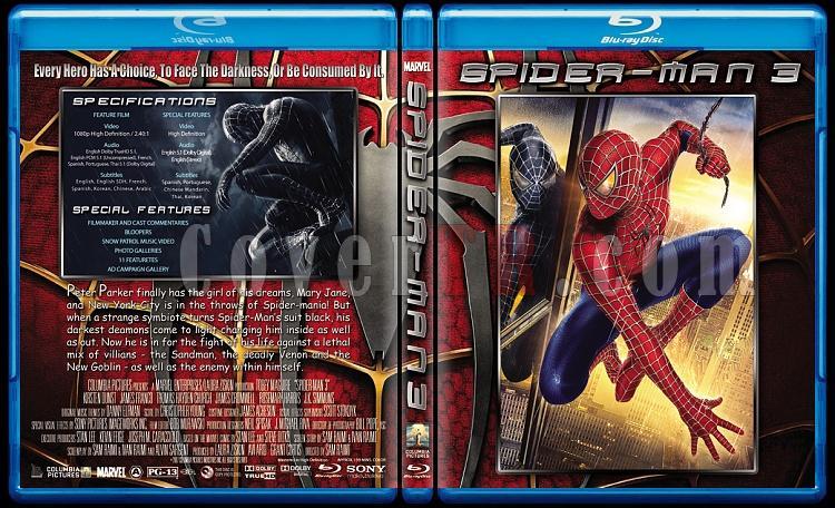 Spider-Man Trilogy (Örümcek Adam Üçlemesi) - Custom Bluray Cover Set - English [2002-2004-2007]-3jpg