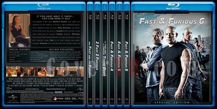 The Fast and the Furious Collection (Hızlı ve Öfkeli Koleksiyonu) - Custom Bluray Cover Set - English-br-spine-copyjpg