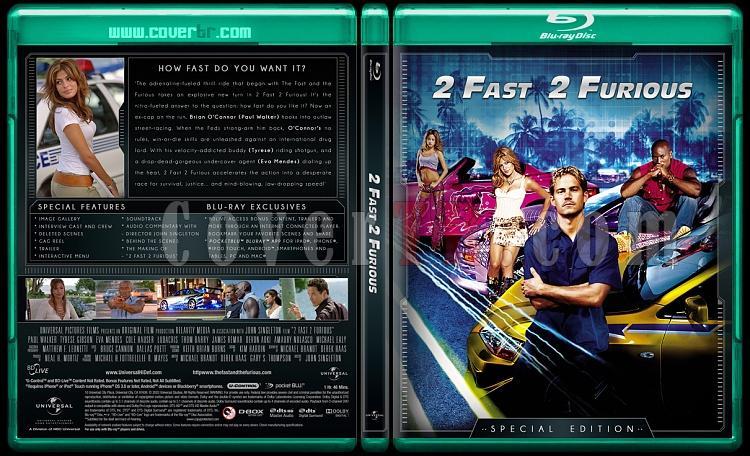 The Fast and the Furious Collection (Hızlı ve Öfkeli Koleksiyonu) - Custom Bluray Cover Set - English-fast-2jpg