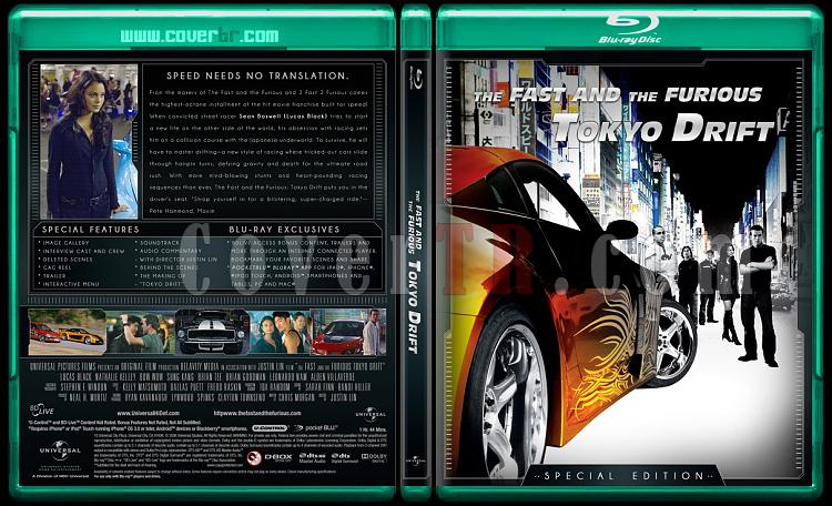 The Fast and the Furious Collection (Hızlı ve Öfkeli Koleksiyonu) - Custom Bluray Cover Set - English-fast-3jpg