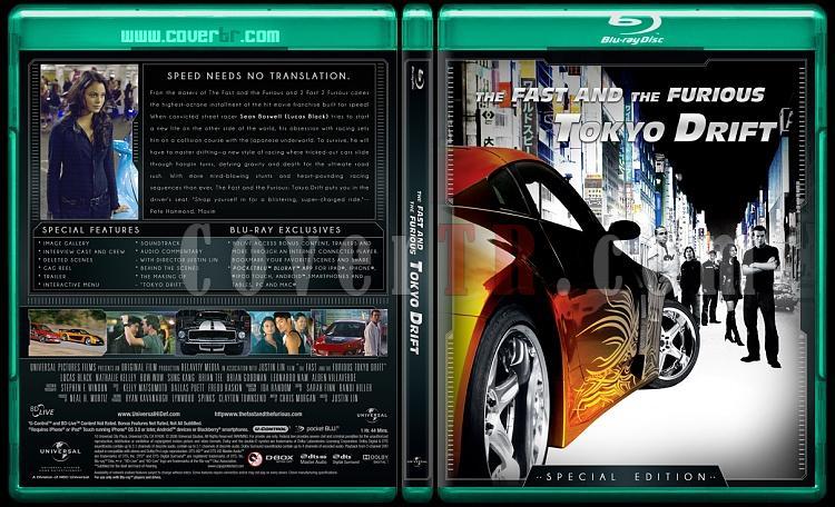 The Fast and the Furious Collection (Hızlı ve Öfkeli Koleksiyonu) - Custom Bluray Cover Set - English-fast-3jpg
