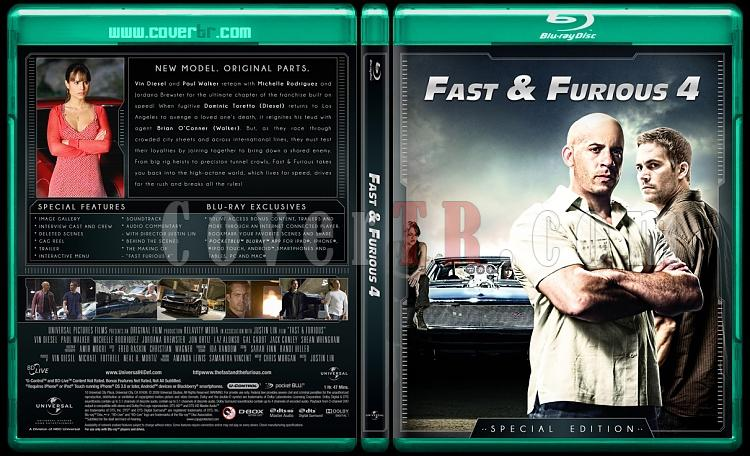 The Fast and the Furious Collection (Hızlı ve Öfkeli Koleksiyonu) - Custom Bluray Cover Set - English-fast-4jpg