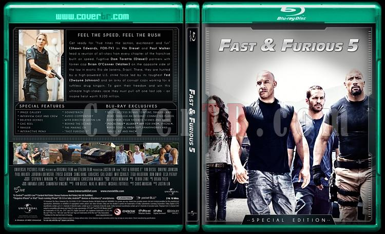 The Fast and the Furious Collection (Hızlı ve Öfkeli Koleksiyonu) - Custom Bluray Cover Set - English-fast-5jpg