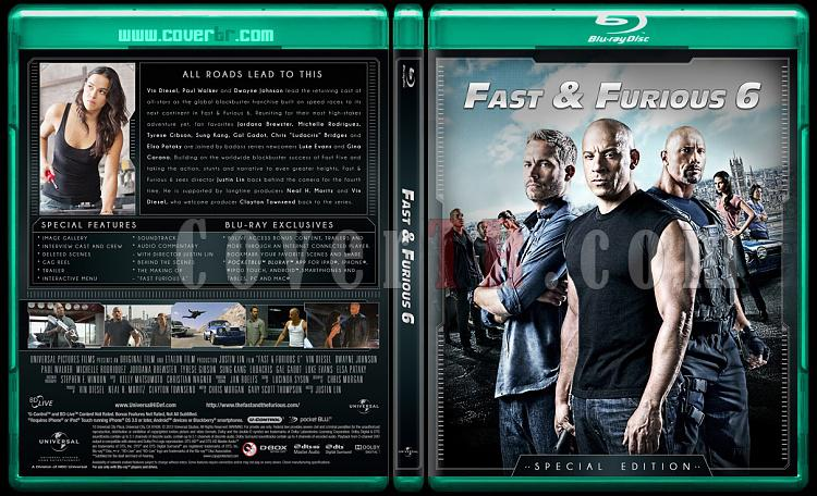 The Fast and the Furious Collection (Hızlı ve Öfkeli Koleksiyonu) - Custom Bluray Cover Set - English-fast-6jpg