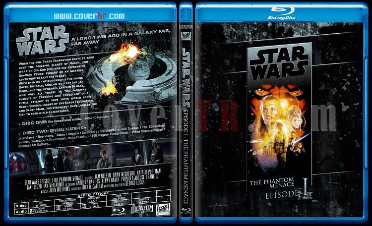Star Wars Collection (Yıldız Savaşları Koleksiyonu) - Custom Bluray Cover Set - English-starwars1jpg