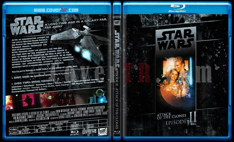 Star Wars Collection (Yıldız Savaşları Koleksiyonu) - Custom Bluray Cover Set - English-starwars2jpg