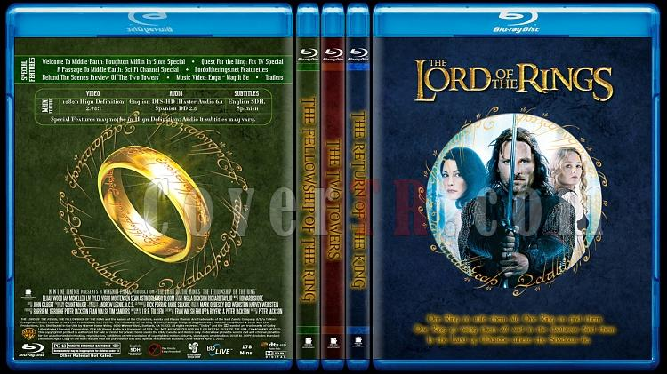 The Lord of the Rings Collection (Yüzüklerin Efendisi Koleksiyonu) - Custom Bluray Cover Set - English [2001-2002-2003]-lotrsetjpg