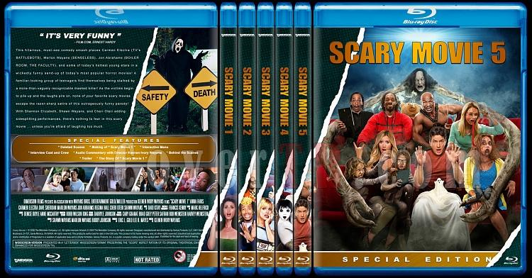 Scary Movie Collection (Korkunç Bir Film Koleksiyonu) - Custom Bluray Cover Set - English-scary-movie-collectionjpg