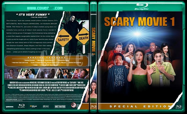Scary Movie Collection (Korkunç Bir Film Koleksiyonu) - Custom Bluray Cover Set - English-scary-movie-1jpg