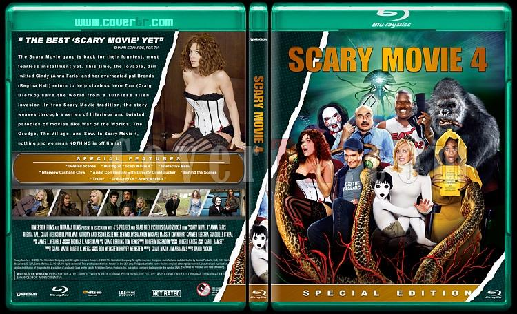 Scary Movie Collection (Korkunç Bir Film Koleksiyonu) - Custom Bluray Cover Set - English-scary-movie-4jpg