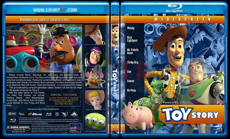 Toy Story Collection (Oyuncak Hikayesi Koleksiyonu) - Custom Bluray Cover Set - English [1995-1999-2010]-toy-story-1995jpg