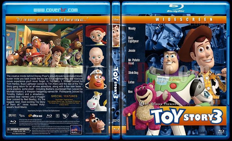 Toy Story Collection (Oyuncak Hikayesi Koleksiyonu) - Custom Bluray Cover Set - English [1995-1999-2010]-toy-story-3-2010jpg