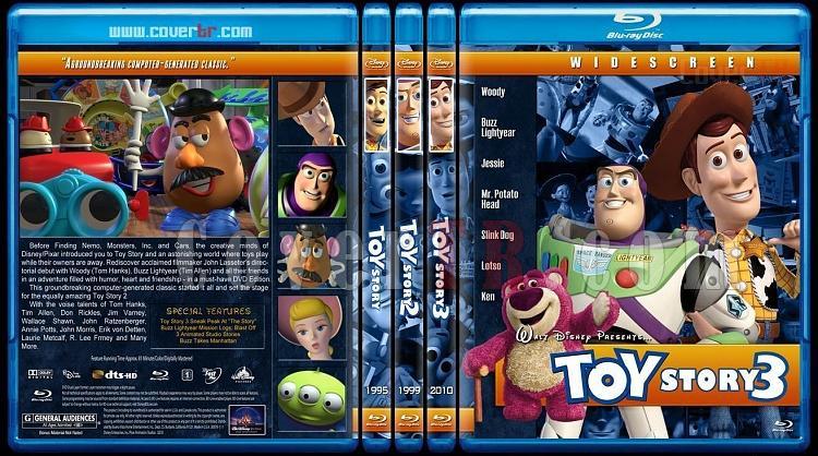Toy Story Collection (Oyuncak Hikayesi Koleksiyonu) - Custom Bluray Cover Set - English [1995-1999-2010]-204jpg
