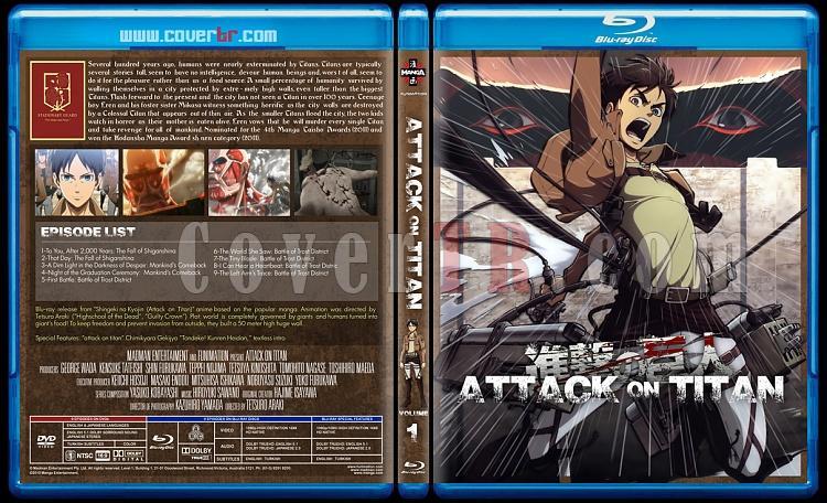 Attack on Titan - Custom Bluray Cover Set - English [2013]-1jpg