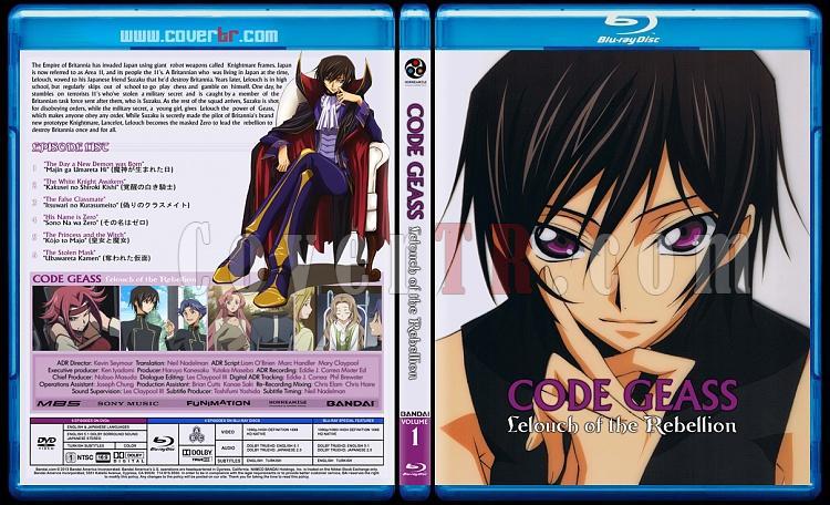 Code Geass: Lelouch of the Rebellion - Custom Bluray Cover Set - English [2006]-01jpg