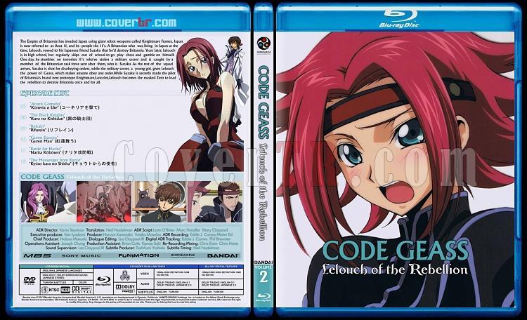 Code Geass: Lelouch of the Rebellion - Custom Bluray Cover Set - English [2006]-02jpg