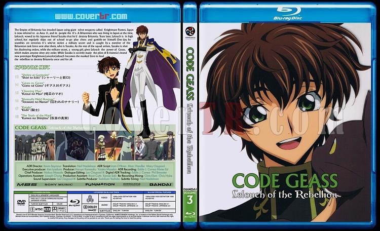 Code Geass: Lelouch of the Rebellion - Custom Bluray Cover Set - English [2006]-3jpg