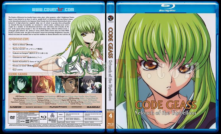 Code Geass: Lelouch of the Rebellion - Custom Bluray Cover Set - English [2006]-4jpg