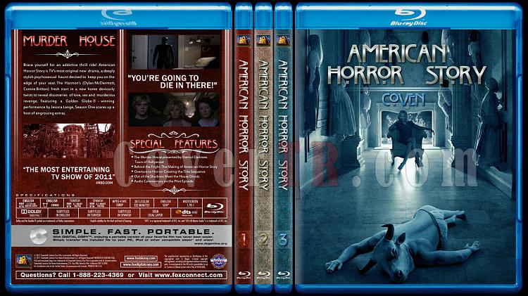 American Horror Story (Seasons 1-2) - Custom Bluray Cover Set - English [2011-?]-br-spine-copyjpg