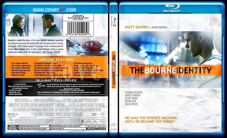 The Bourne Trilogy - Custom Bluray Cover Set - English [2002-2004-2007]-bourne-identity-1jpg