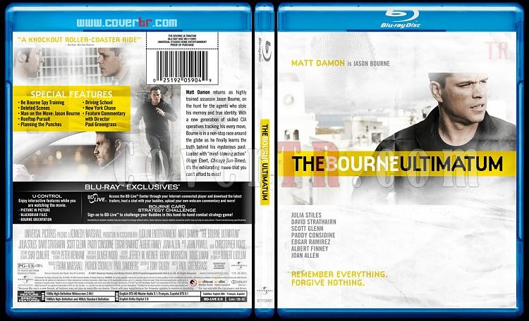 The Bourne Trilogy - Custom Bluray Cover Set - English [2002-2004-2007]-bourne-ultimatum-3jpg
